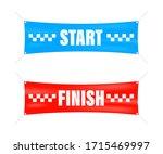 start finish. winner banner.... | Shutterstock .eps vector #1715469997