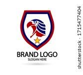 cool eagle logo. for modern... | Shutterstock .eps vector #1715477404