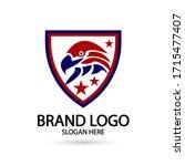 cool eagle logo. for modern...   Shutterstock .eps vector #1715477407