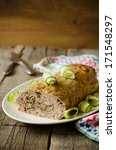 meatloaf with mushrooms on a... | Shutterstock . vector #171548297