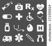 medical icons | Shutterstock .eps vector #171550019