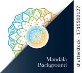luxury mandala background with... | Shutterstock .eps vector #1715502127