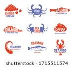 set of seafood logo or label...   Shutterstock .eps vector #1715511574