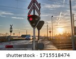 Red Lights At A Railway...