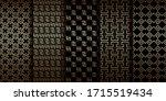 art deco golden geometric... | Shutterstock .eps vector #1715519434