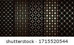 golden geometric seamless... | Shutterstock .eps vector #1715520544
