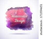 watercolor vector background.... | Shutterstock .eps vector #171554651