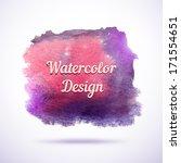 watercolor vector background.... | Shutterstock .eps vector #171554651