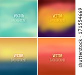 abstract colorful blurred... | Shutterstock .eps vector #171554669