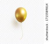 balloon isolated on transparent ... | Shutterstock .eps vector #1715589814