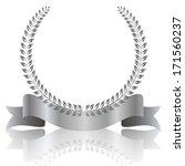 laurel frame ribbon | Shutterstock .eps vector #171560237