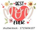 celebration happy mother's day... | Shutterstock .eps vector #1715606107