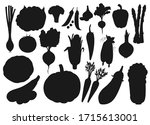 vegetables and farm veggies ...   Shutterstock .eps vector #1715613001