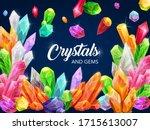 gem crystals  precious... | Shutterstock .eps vector #1715613007