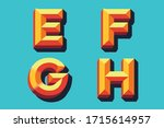 colored vector letters e f g h... | Shutterstock .eps vector #1715614957