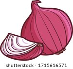 funny and cute red purple onion ...