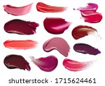 Red orange purple lip gloss...