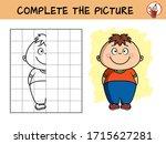 smiling little boy. copy the... | Shutterstock .eps vector #1715627281