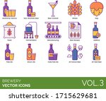 brewery icons including alcohol ... | Shutterstock .eps vector #1715629681