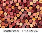 Wine Corks Background  Shot...