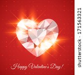 happy valentine's day card with ... | Shutterstock .eps vector #171563321