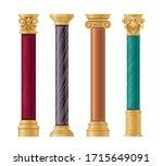 pillars vector illustration... | Shutterstock .eps vector #1715649091