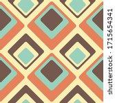 abstract retro vector pattern.... | Shutterstock .eps vector #1715654341
