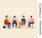 teamwork  office life  people... | Shutterstock .eps vector #1715666731