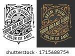 vintage luxury logo   label... | Shutterstock .eps vector #1715688754
