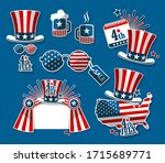a set of souvenirs with the... | Shutterstock .eps vector #1715689771