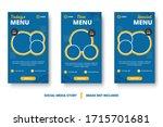 food menu banner social media... | Shutterstock .eps vector #1715701681