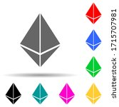 etherium sign multi color style ...