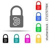 bit coin lock multi color style ...