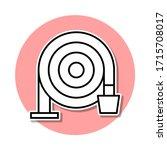 fire hose sticker icon. simple...