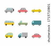 Cars Set Illustration Icon...