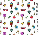 vector pattern from colored... | Shutterstock .eps vector #1715713267