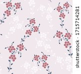 cute red small flowers pattern...   Shutterstock .eps vector #1715714281