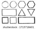 vector set of sketch abstract... | Shutterstock .eps vector #1715718601