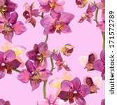 graphic floral backdrop with... | Shutterstock . vector #171572789
