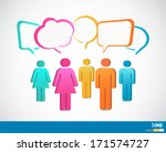 people icons with talking... | Shutterstock .eps vector #171574727