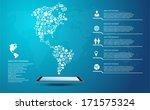 america map  icon shape... | Shutterstock .eps vector #171575324