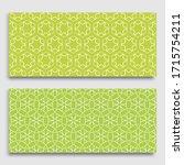seamless horizontal borders...   Shutterstock .eps vector #1715754211