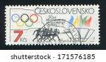 czechoslovakia   circa 1984 ... | Shutterstock . vector #171576185