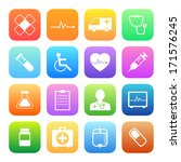 colorful style medical icons... | Shutterstock .eps vector #171576245