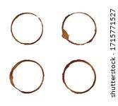 vector brown and beige coffee... | Shutterstock .eps vector #1715771527