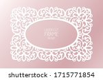 laser cut paper lace frame ... | Shutterstock .eps vector #1715771854