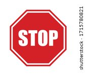 stop sign vector stock... | Shutterstock .eps vector #1715780821