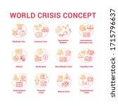 world crisis concept icons set. ...   Shutterstock .eps vector #1715796637