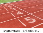 Running Track With Number In...