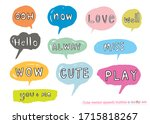 hand drawn set of colorful... | Shutterstock .eps vector #1715818267